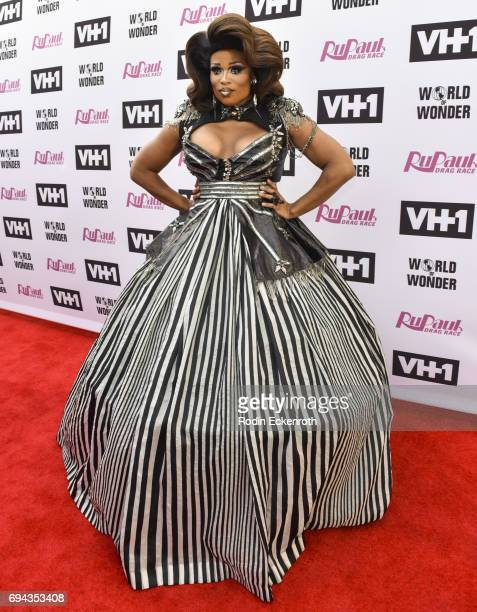 Contestant Peppermint attends 'RuPaul's Drag Race' Season 9 Finale Taping at Alex Theatre on June 9 2017 in Glendale California