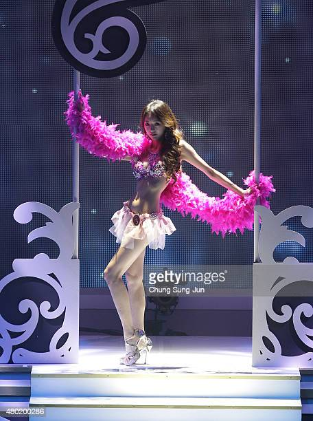 A contestant performs onstage during 2015 Miss Korea Pageant on July 10 2015 in Seoul South Korea The first place winner will participate in the Miss...