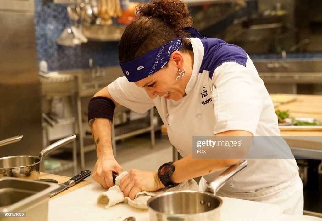 Contestant Robyn In The Trimming Fat Episode Of Hells Kitchen Airing News Photo Getty Images