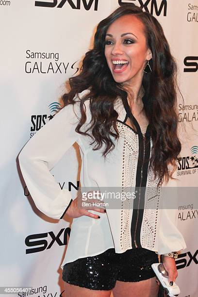 Contestant Rosy McMichael from Mexico arrives at Samsung's SOS Island Survival of the Smartest wrap party on Tuesday Dec 10 at The W Hollywood where...