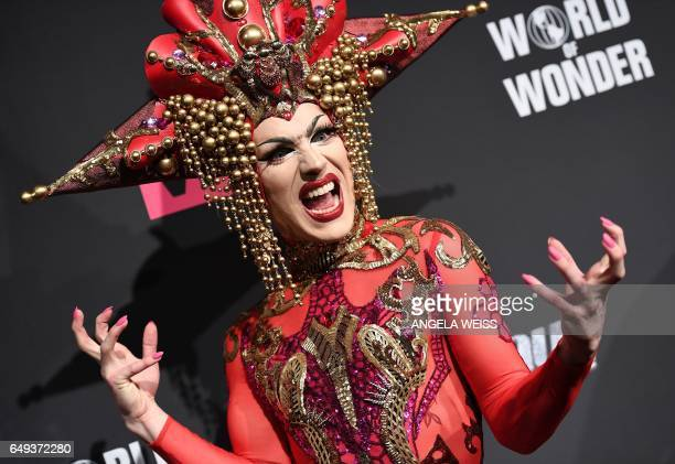 Contestant Sasha Velour attends 'RuPaul's Drag Race' Season Premiere party on March 7 2017 in New York City / AFP PHOTO / ANGELA WEISS