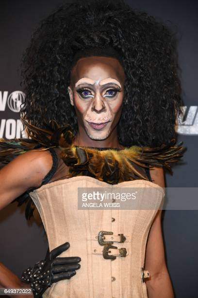 Contestant Shea Couleé attends RuPaul's Drag Race Season Premiere party on March 7 2017 in New York City / AFP PHOTO / ANGELA WEISS