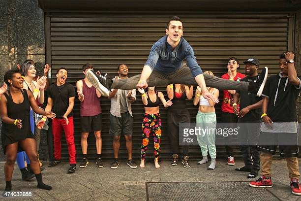 A contestant shows off his moves while waiting in line to audition for the 12th season of SO YOU THINK YOU CAN DANCE premiering summer 2015 on FOX