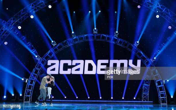 Contestant Slavik Pustovoytov and AllStar Allison Holker perform a dance routine during academy week airing Monday July 30 on FOX
