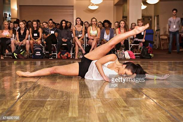 A contestant stretches while waiting to audition for the 12th season of SO YOU THINK YOU CAN DANCE premiering summer 2015 on FOX