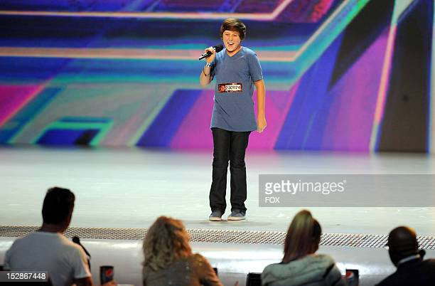Contestant Trevor Moran performs in front of the judges on an all new episode of THE X FACTOR airing Thursday September 27 2012 on FOX