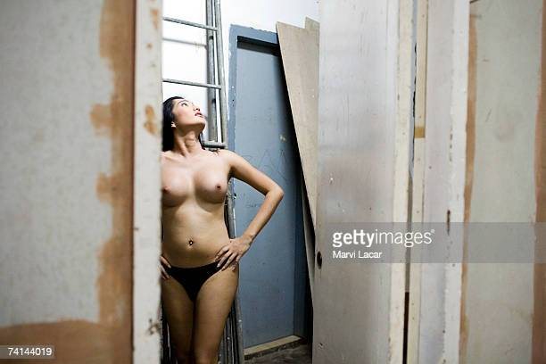 Contestant who goes by the stage name Kim Chui prepares to take the stage for the Miss Gay Sandugo beauty pageant July 19 2006 in Tagbilaran...