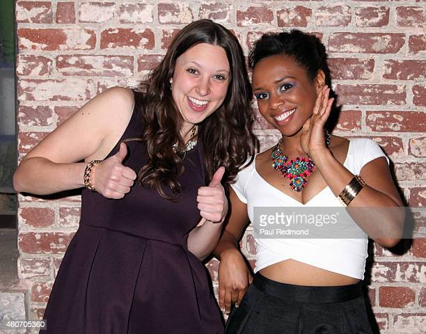 Contestants Amy DeJong and Maya Warren attend 'The Amazing Race' Season 25 Finale Party at The Speakeasy on December 19 2014 in Pasadena California