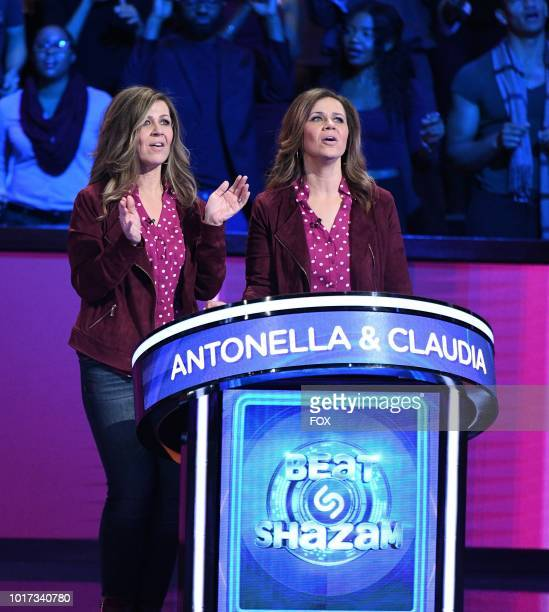 Contestants Antonella and Claudia in the allnew Episode Twelve episode of BEAT SHAZAM airing Tuesday Aug 21 on FOX