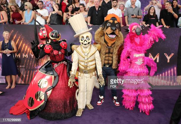 SINGER contestants attend FOXS LIVE EMMY® RED CARPET ARRIVALS during the 71ST PRIMETIME EMMY® AWARDS airing live from the Microsoft Theater at LA...