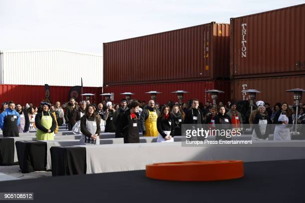 Contestants attend MasterChef Casting Call on January 13 2018 in Madrid Spain
