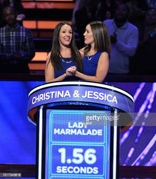 Contestants Christina and Jessica in the all-new Episode Twelve episode of BEAT SHAZAM airing Tuesday, Aug. 21 on FOX.