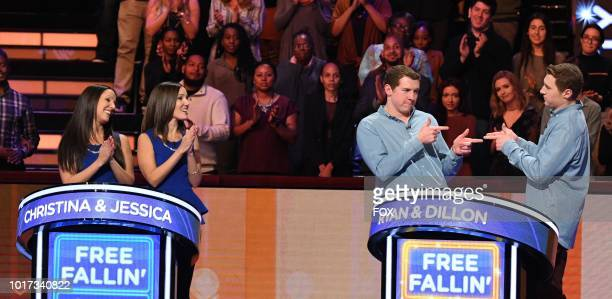 Contestants Christina Jessica Ryan and Dillon in the allnew Episode Twelve episode of BEAT SHAZAM airing Tuesday Aug 21 on FOX