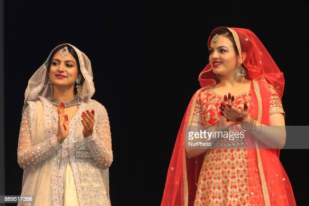 Contestants compete during the Miss World Punjaban beauty pageant held in Mississauga Ontario Canada on 11 November 2017 Contestants from around the...