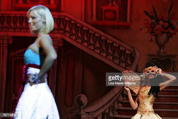 Contestants compete for the title of Miss Earth Australia at the Enmore Theatre September 13 2007 in Sydney Australia Thirtyfive finalists are...