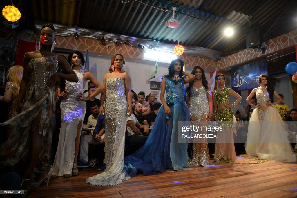 Contestants Compete In The First Miss Universe Gay 2017 Pageant In Medellin Antioquia Department