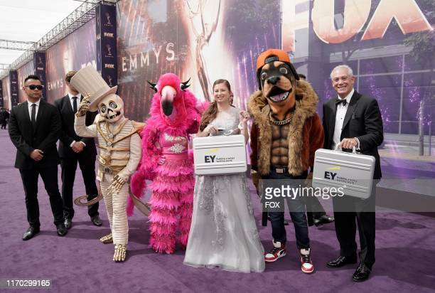 SINGER contestants during FOXS LIVE EMMY RED CARPET ARRIVALS during the 71ST PRIMETIME EMMY AWARDS airing live from the Microsoft Theater at LA LIVE...