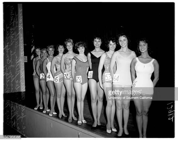 Contestants for Culver City La Ballona 8 July 1961 Sally AdlerMerry AllisonMarie BaileyDoris TurnerSandra BettinMickey Jines Sally Jane...