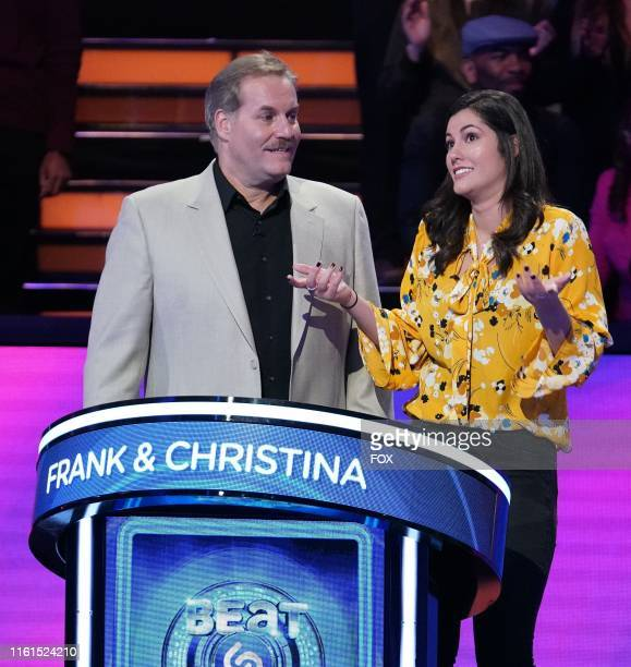 Contestants Frank and Christina in the #Daddydaughtertime Fathers Day episode of BEAT SHAZAM airing Monday, June 17 on FOX.