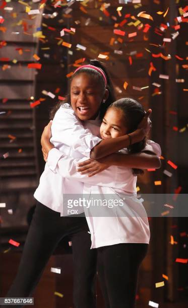 Contestants Jasmine and Justise in the allnew twohour Junior Edition The Semi Finals/Junior Edition Finale season finale episode of MASTERCHEF airing...