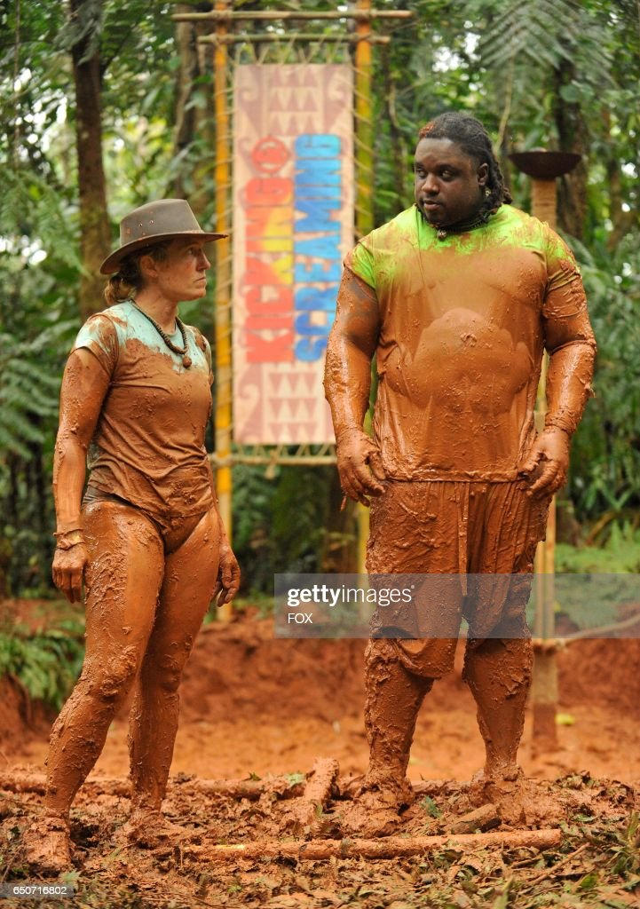 Contestants Jessie and Michael in the all-new Welcome to the Jungle series premiere episode of KICKING & SCREAMING airing Thursday, March 9 (9:01-10:00 PM ET/PT), on FOX.