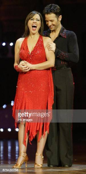 Contestants Jill Halfpenny and Darren Bennet are announced as the winners during the final of BBC show Strictly Come Dancing at Blackpool Tower in...