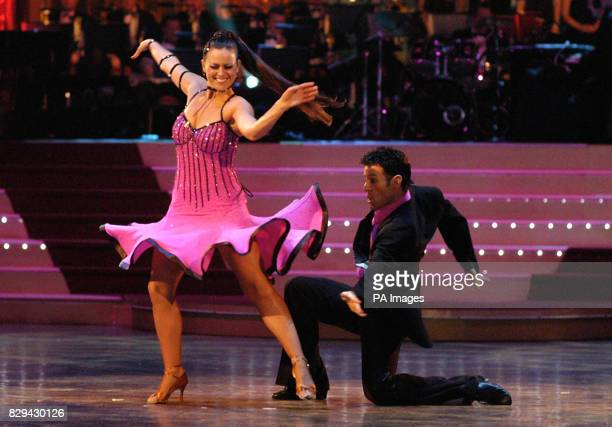 Contestants Jill Halfpenny and Darren Bennet during the final of BBC show Strictly Come Dancing at Blackpool Tower in Blackpool