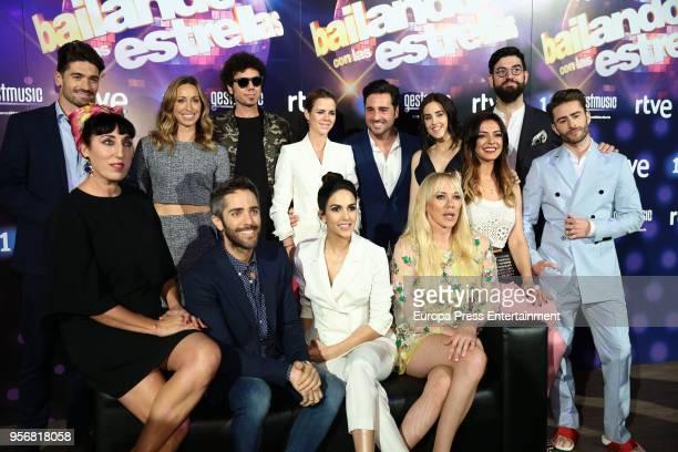 Contestants jury and presenters attend 'Bailando Con Las Estrellas' TVE photocall on May 9 2018 in Madrid Spain