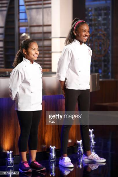 Contestants Justise and Jasmine in the allnew twohour Junior Edition The Semi Finals/Junior Edition Finale season finale episode of MASTERCHEF airing...