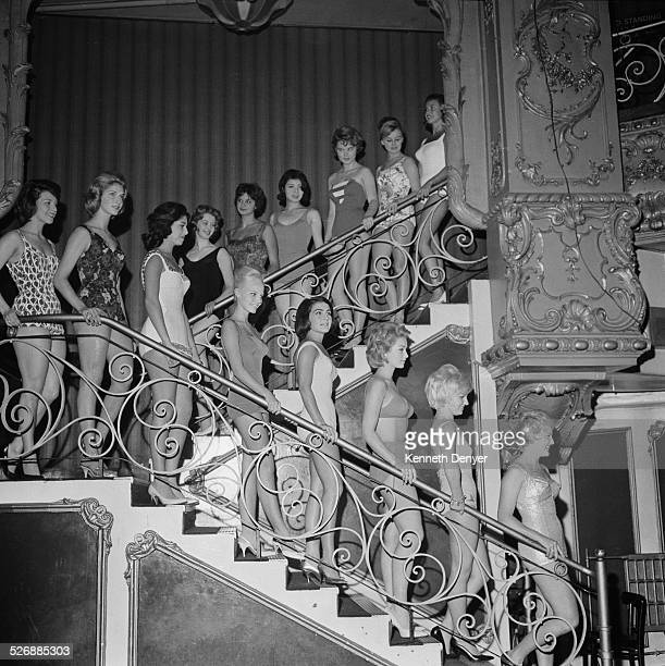 Contestants line up for the Miss World beauty pageant 3rd November 1960