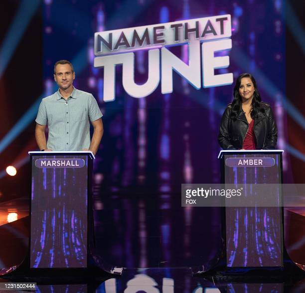 Contestants Marshall and Amber in the Episode 9 / Episode 10 two-hour season finale episode of NAME THAT TUNE airing Wednesday, March. 3 on FOX.