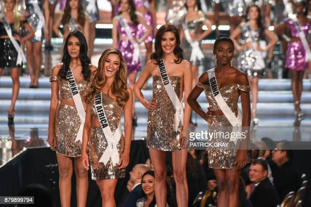 Contestants Miss Sri Lanka 2017 Christina Peiris Miss South Africa 2017 DemiLeigh NelPeters Miss Thailand 2017 Maria Poonlertlarp and Miss Ghana 2017...
