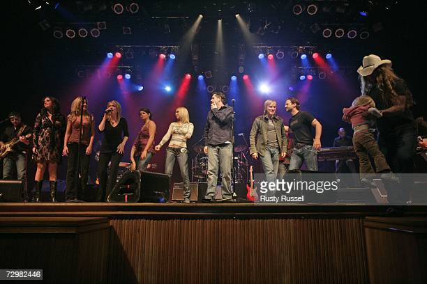 Contestants on the USA Network's Nashville Star perform during the show's Premiere Party on January 11 2007 in Nashville Tennessee On stage to begin...