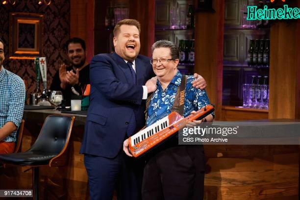 Contestants perform in 'Stage 56 Bar Tricks' with James Corden during 'The Late Late Show with James Corden' Thursday February 8 2018 On The CBS...