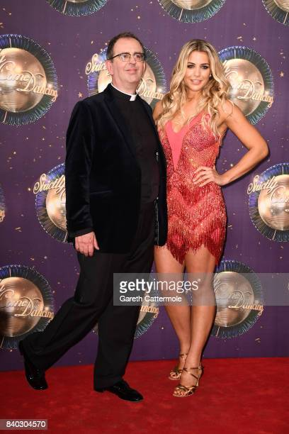 Contestants Reverend Richard Coles and Gemma Atkinson attend the 'Strictly Come Dancing 2017' red carpet launch at The Piazza on August 28, 2017 in...