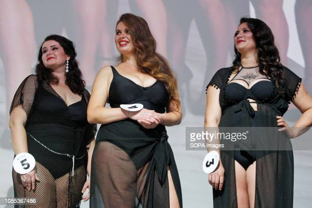 Contestants seen during the Miss Ukraine Plus Size beauty pageant in Kiev 22 female contestants competed in the contest the first held in Ukraine...