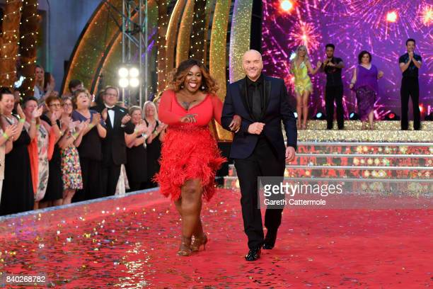 Contestants Simon Rimmer and Chizzy Akudolu attend the 'Strictly Come Dancing 2017' red carpet launch at The Piazza on August 28 2017 in London...