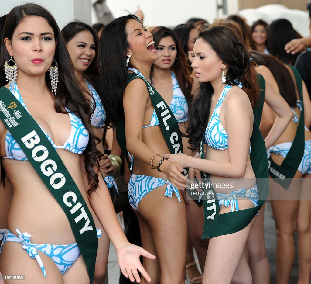 PHILIPPINES-ENVIRONMENT-BEAUTY-PAGEANT : News Photo
