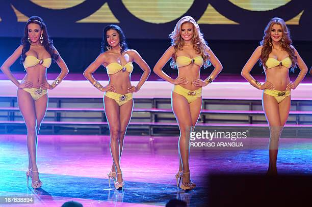 Contests participate in the Miss Panama beauty contest in Panama City on April 30 2013 Miss Veraguas Carolina Brid won and was crowned Miss Panama...