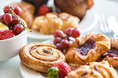 Continental Breakfast - Cinnamon Bun, Danishes, Rolls, Muffins, Fresh Fruit