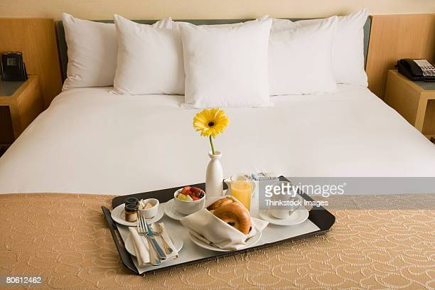 Continental breakfast on bed