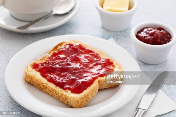 continental breakfast with coffee and bread toast - spread stock pictures, royalty-free photos & images