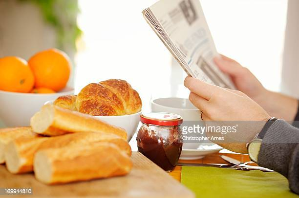 Continental Breakfast with Newspaper