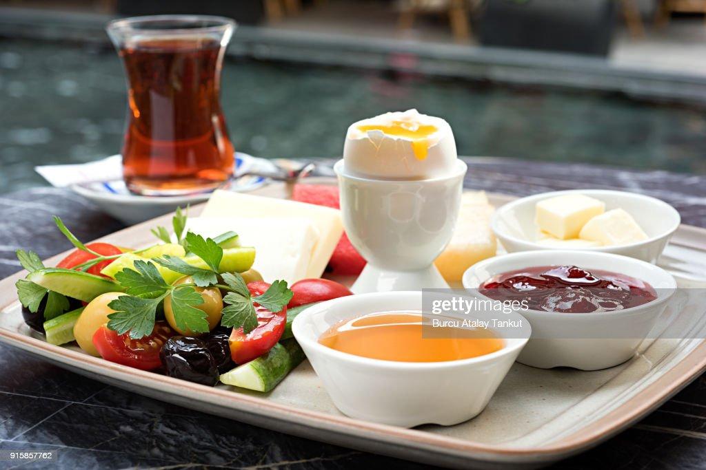 Continental Breakfast with Tea : Stock Photo