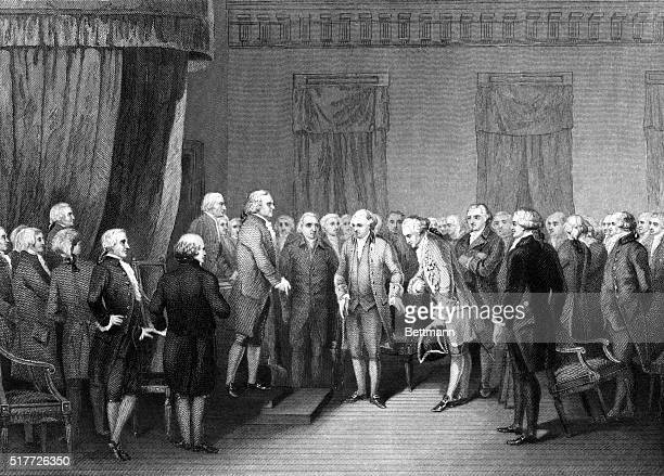 Continental Congress M Gerard the French minister introduced to the Congress 1778