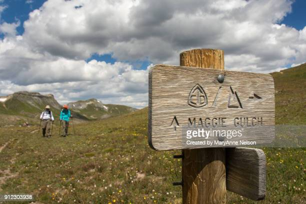 Continental Divide and Colorado Trail Sign in Maggie