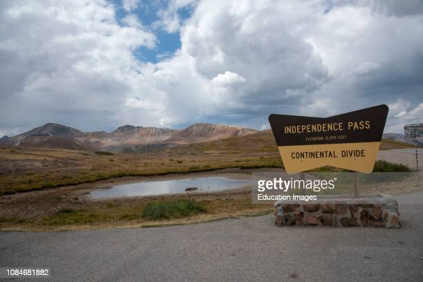 Continental divide at Independence Pass Rocky Mountains Colorado