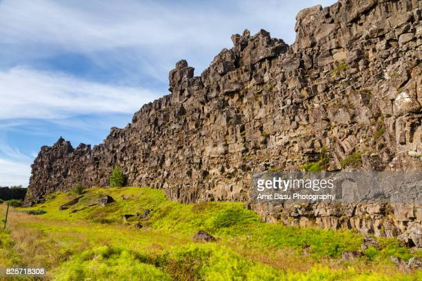 Continental divide at Thingvellir National Park, Iceland