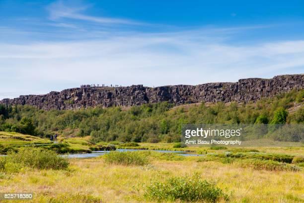 Continental divide at Thingvellir National Park, Iceland