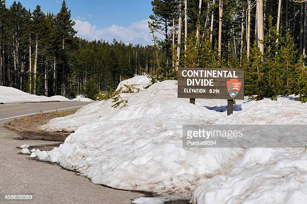 Continental Divide Sign in Yellowstone National Park